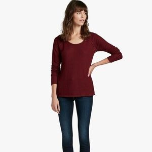 Lucky Brand Lace Mixed Thermal SZ XL Wild Currant